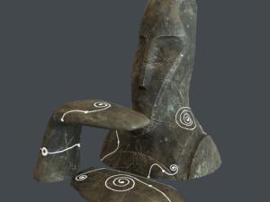 Alien Stone Head