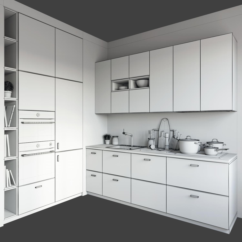 Kitchen Ikea Kungsbacka 3d Model In Kitchen 3dexport