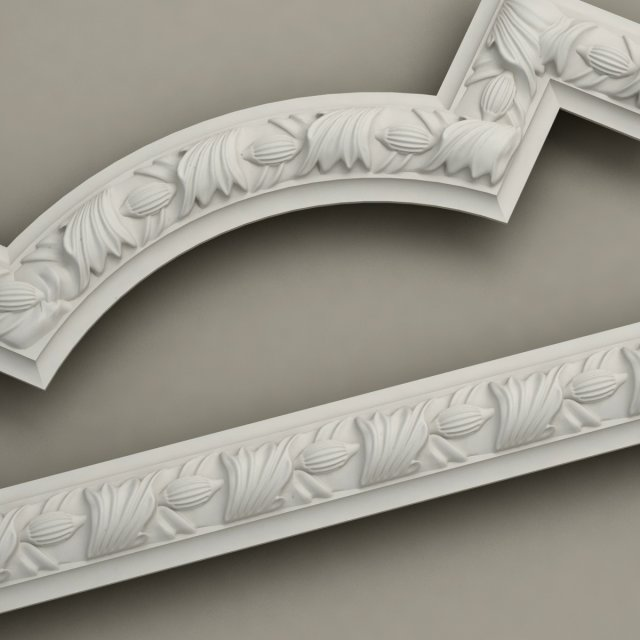 3d molding with corner elements harmony model