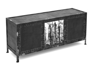 Black White TV cabinet