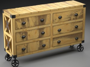 MANUFACTURE buffet-dresser on wheels in the indust