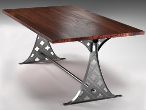 Quatre dining table in the industrial style