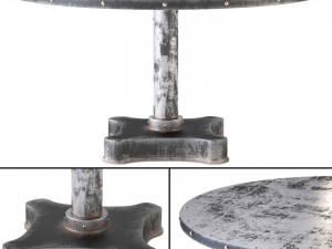 Viktor Industrial Solid Metal and Cast Iron Dining
