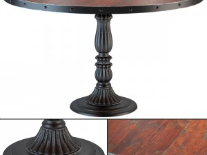 French Soda Fountain Distressed Wood Kitchen Table