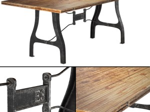 Nuevo V4 A-Leg Small Dining Table with Reclaimed W