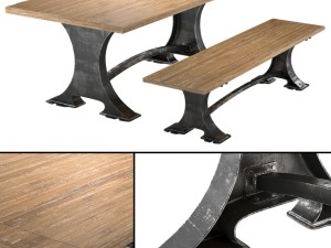 Roberto Dining Table and bench