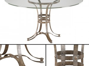 Tempe Round Metal Dining Table