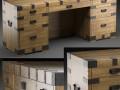 HEIRLOOM SILVER CHEST desk Restoration Hardware