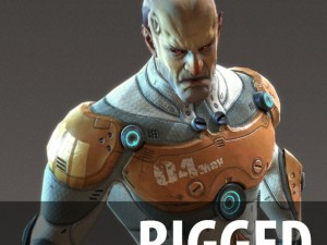 Scifi Male  Rigged