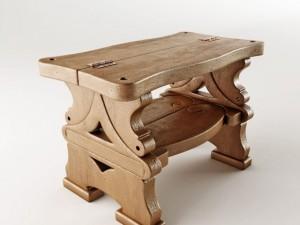 Stepladder and bench