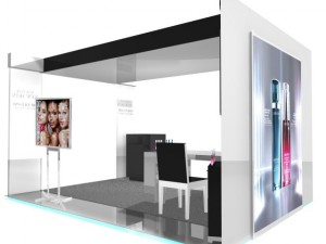 Exhibition stand of Lancome