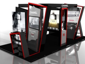 Exhibition stand Chanel