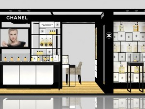 Exhibition stand of Chanel in GUM