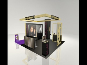 Exhidition stand YSL in GUM Moscow