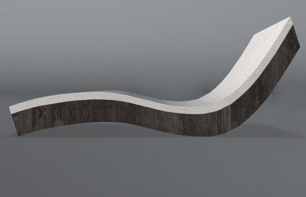 Wooden sunbed Set 3D Model