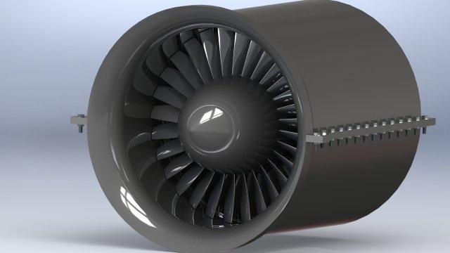 Axial compressor 3D Model