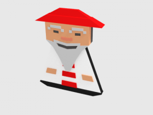 Crossy Chinese Monk