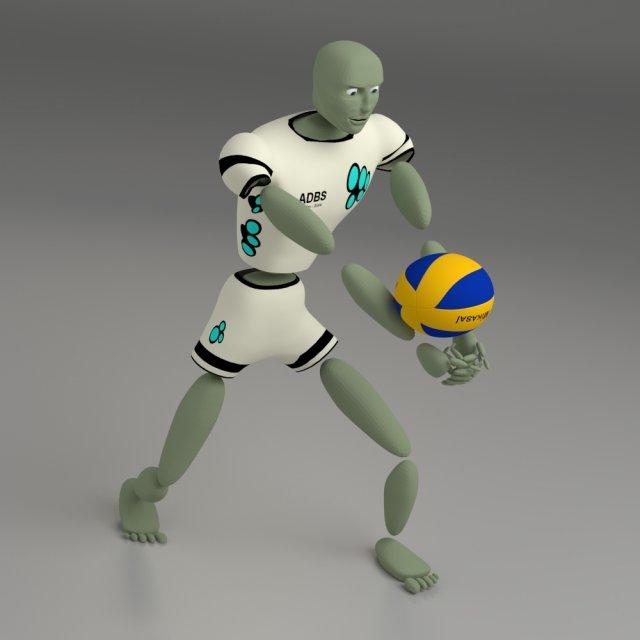 Cartoon abstract sport model Ballerkin - humanoid 3D Model