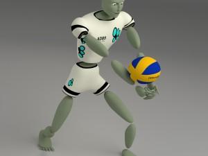 Cartoon abstract sport model Ballerkin - humanoid
