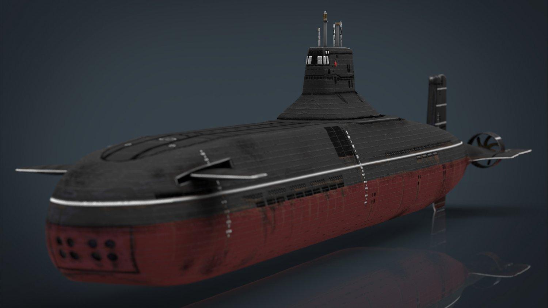 Submarine Typhoon-class 3D Model in Combat 3DExport