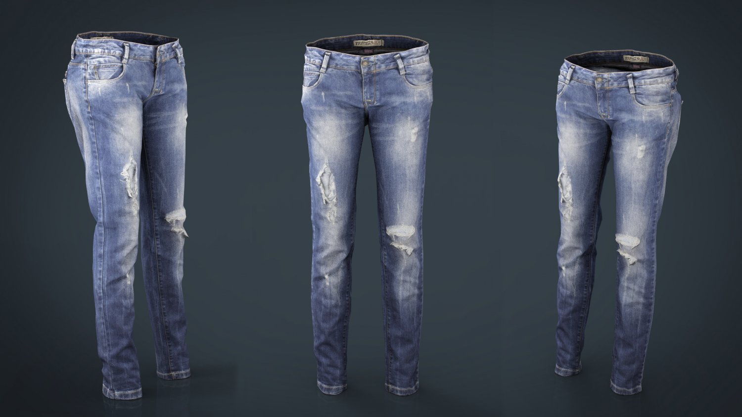 Ripped Jeans 3D Model in Clothing 3DExport