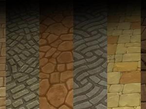 Ground stone tile