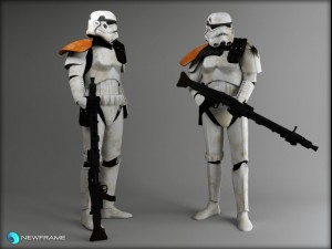 Storm trooper Rigged