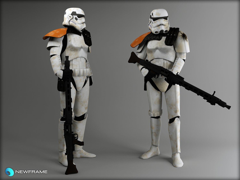 Storm trooper Rigged 3D Model in Alien 3DExport 86cf9f1aaa