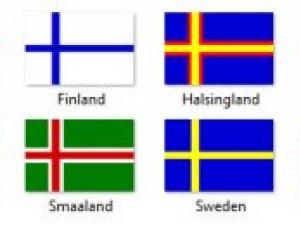 Scandinavian flags textures