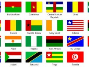 African flags textures