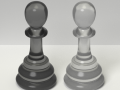 Two Chess Pawns