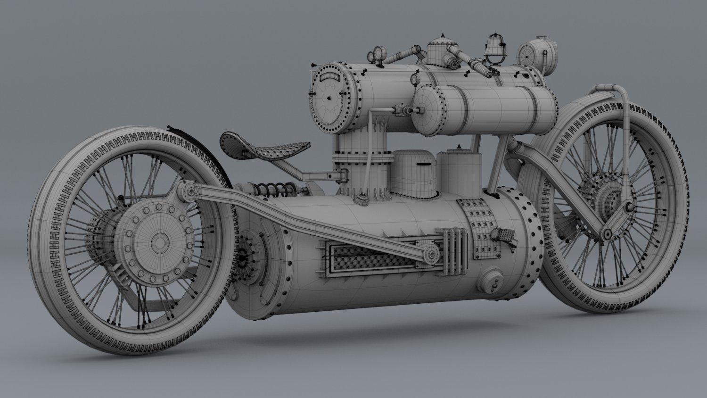 Steampunk bike 3D Model in Motorcycle 3DExport