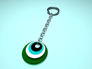 Keychain cats eye