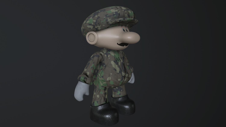 Super Mario in Army 3D Model in Toys 3DExport