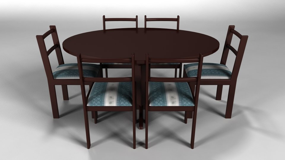 Dining Table Free 3d Model In Table 3dexport