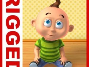 Boy cartoon rigged 01