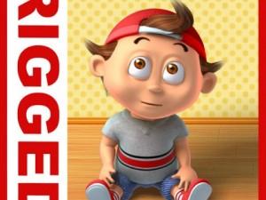 Boy cartoon rigged 03