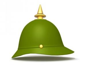 German spiked prussian helmet