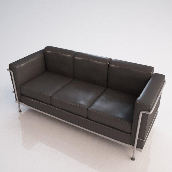 Le Corbusier Sofa 3d Modell In Sofa 3dexport