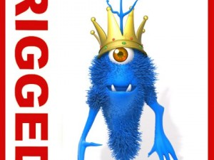 Monster King Rigged Cartoon
