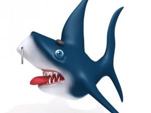 Shark cartoon 02
