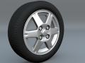 Tire and rim scene file