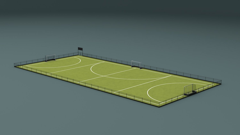 8313b6db43 Field Hockey Training Pitch 3D Model in Sports Equipment 3DExport
