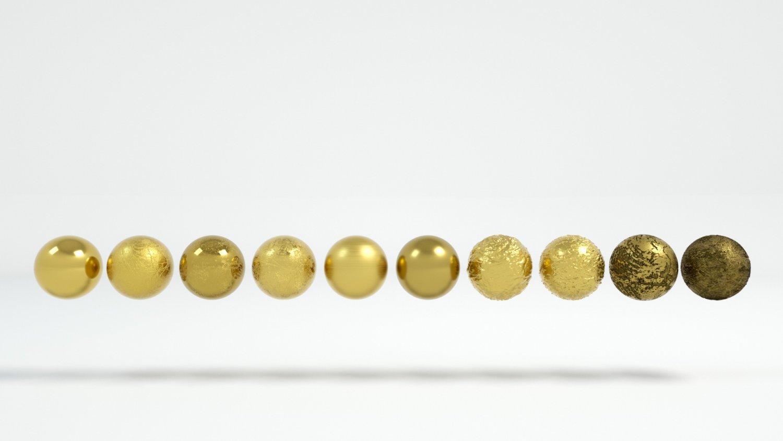 10 Gold Materials Textures For Cinema4D Octane Render 3D Model in Metal  3DExport