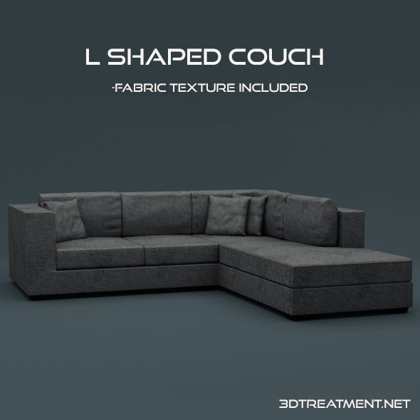 L Shaped Couch 3d Model In Sofa 3dexport