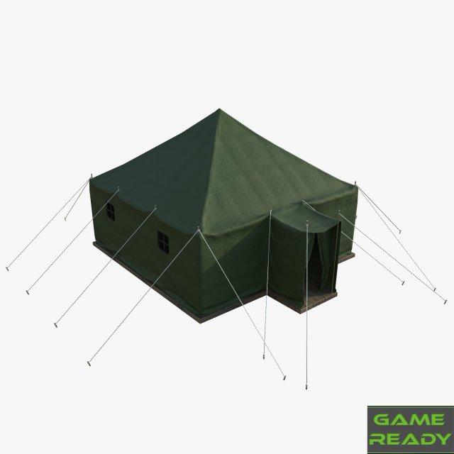 Military tent 3D Model in Construction 3DExport