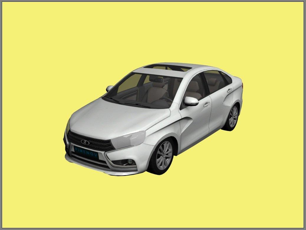 Lada Vesta 2015 3D Model in Sedan 3DExport