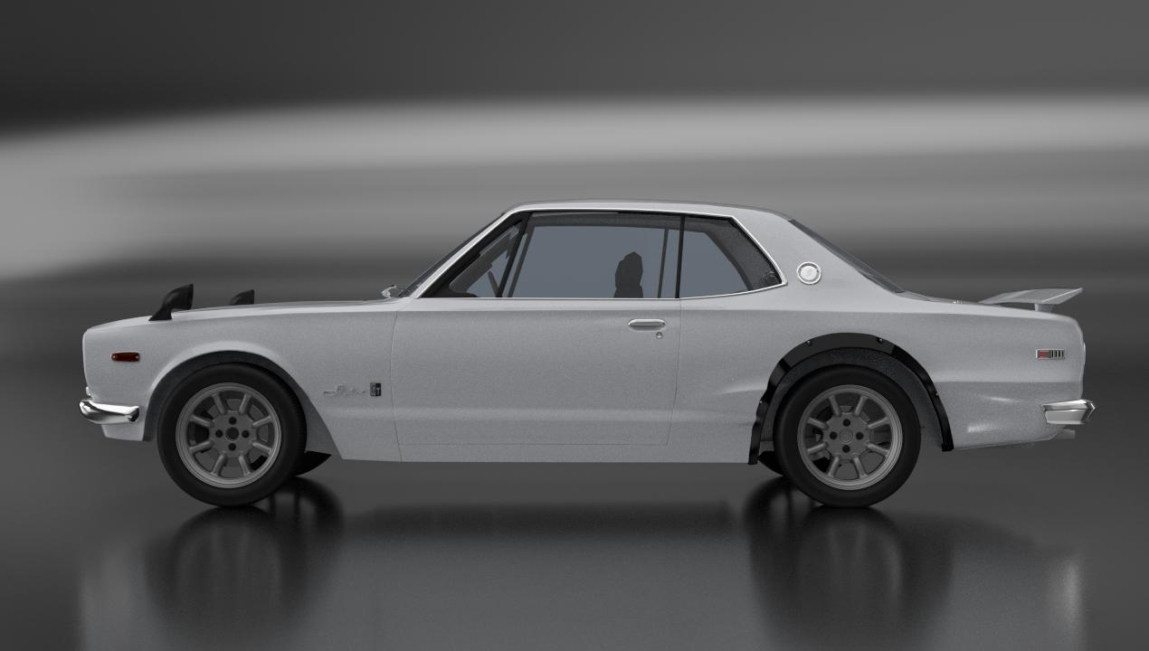 Nissan-Datsun 2000 GT-R Skyline Hakosuka 3D Model in Classic Cars 3DExport