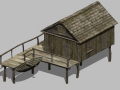 Fisherman House 3D Model