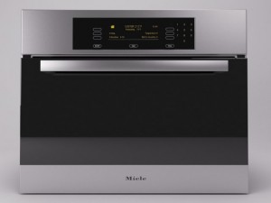 Integrated steam oven  Miele combi steamer